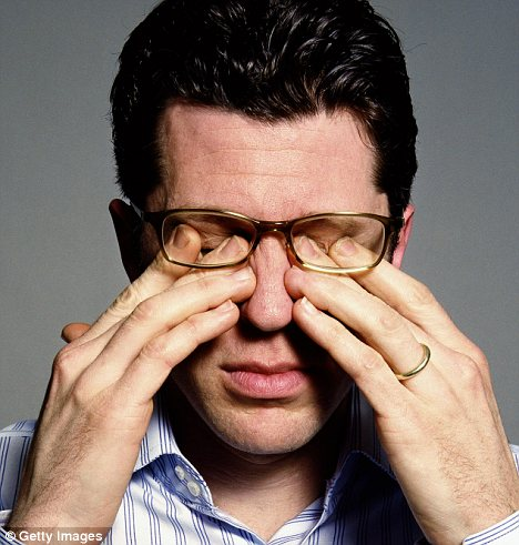 Involuntary movement: Eye twitching - known as myokymia - is usually a sign of stress