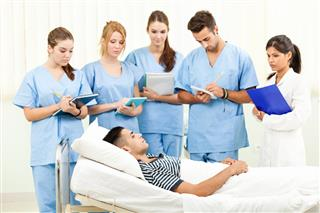 Medical Students In Hospital