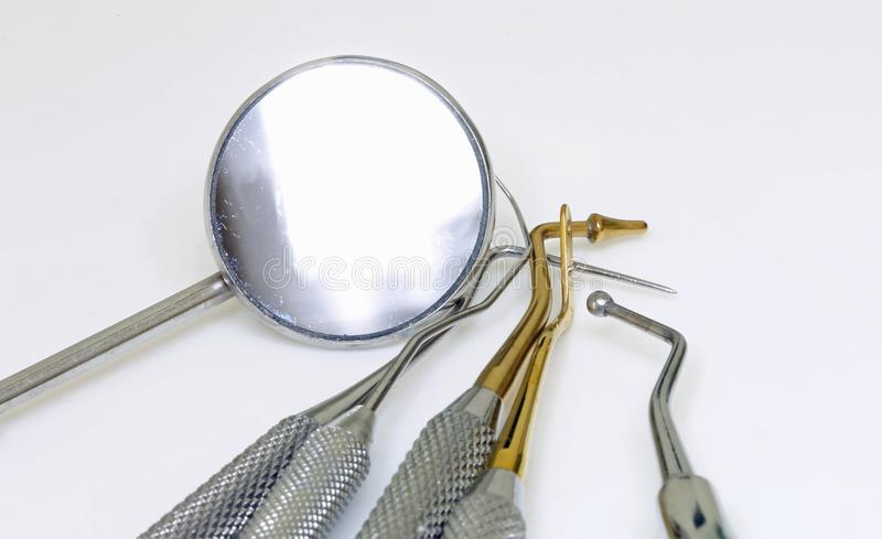 Dentist medical equipment for the removal of tartar royalty free stock photo