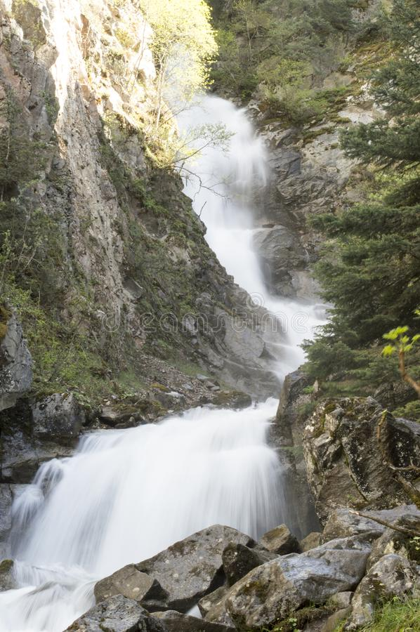 The Lower Reid Falls in Skagway, Alaska stock photography