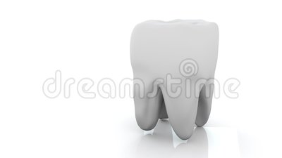 Tooth on white background. Loop. Isolated. Animation medical concept. 3d render. Tooth on white background. Loop. Isolated. Animation medical concept. Caries royalty free illustration